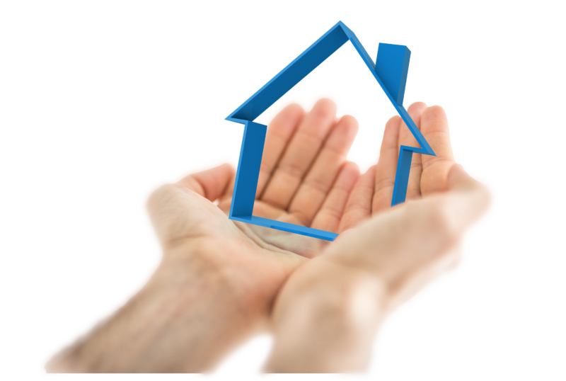 hands_and_blue_house